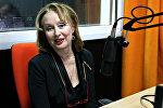 Лариса Удовиченко в студии радио Sputnik Беларусь