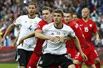 Матч чемпионата Европы по футболу между сборными Германии и Польши