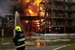 Ликвидация пожара на предприятии Полимир в Новополоцке