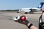 Первый рейс Белавиа  Минск-Паланга прошел в праздничной обстановке