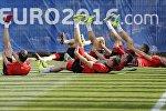 Тренировка сборной Польши по футболу