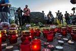 Акция в память о детях, погибших при шторме на Сямозере, в Петрозаводске
