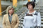 Татьяна Москалькова и Валерия Лутковская после встречи в Минске