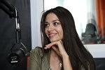 Мисс Беларусь-2016 Полина Бородачева в студии радио Sputnik Беларусь