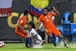 Матч Кубка Америки по футболу между сборными Чили и Колумбии
