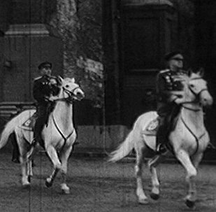 Спутник_Москва, Красная Площадь, 24 июня 1945 года. Парад Победы в архивных кадрах