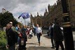 Люди в центре Лондона после референдума