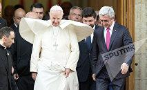Папа Римский Франциск и президент Армении Серж Саргсян