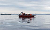 Поисково-спасательные работы на озере Сямозеро
