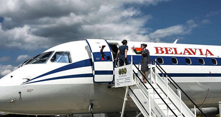 Самолет белорусской авиакомпании Белавиа.