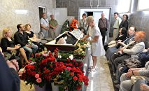 Прощание с Сергеем Кортесом в ритуальном зале Республиканского клинического медицинского центра