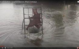 Водяная воронка на месте потопа в Бобруйске. Кадры очевидца