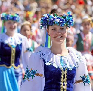 Участники парада в Минске
