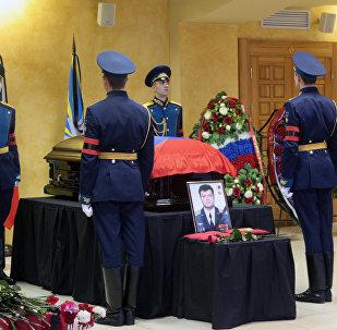 Похороны погибшего в Сирии летчика О.Пешкова в Липецке