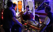 Пострадавшая во время теракта в Турции