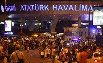 Аэропорт Ататюрка в Стамбуле после нападения террористов