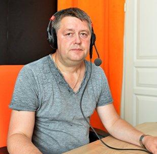 Политолог Сергей Палагин в студии радио Sputnik Беларусь