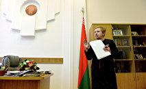 Глава ЦИК Лидия Ермошина в рабочем кабинете