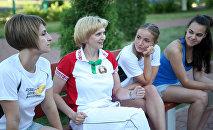 Олимпийская чемпионка Марина Лобач делится опытом с молодежью