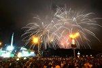 Праздничный салют в небе над Минском
