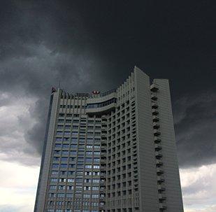 Хмары над Мінскам, архіўнае фота