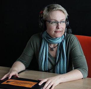 Светлана Лицкевич на радио Sputnik Беларусь