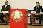 Голосование на одном из избирательных участков Минска