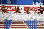 Финальный забег на 100 м с барьерами на чемпионате Европы по легкой атлетике