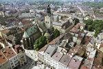 Вид на старинные кварталы города Львова