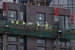 Рабочие на стройке в Лондоне