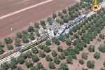 Столкновение пассажирских поездов в Италии