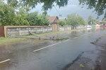 Поваленный столб в Минске