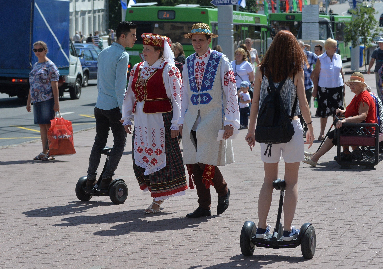 На улицах Витебска в дни Славянского базара