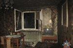 Пожар в доме в Островце