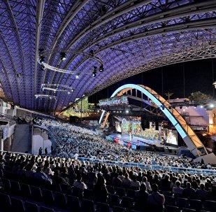 Летний амфитеатр - главная сцена Международного фестиваля искусств Славянский базар в Витебске.
