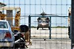 Вертолет на базе в Турции