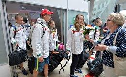Встреча школьников в аэропорту