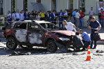 На месте гибели Павла Шеремета в Киеве