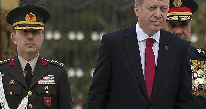 Turkish President Recep Tayyip Erdogan and Ali Yazici