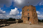 Вежа Гедыміна на Замкавай гары ў Вільні