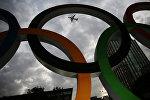 Олимпийские кольца в столице Игр-2016 Рио-де-Жанейро