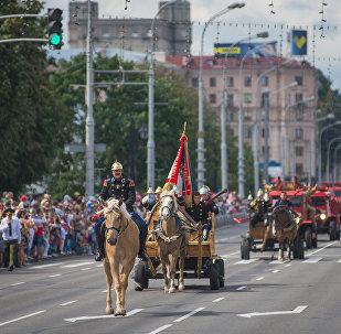День пожарной службы в Минске