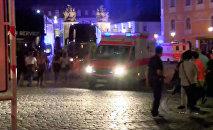 Взрыв в городе Ансбах на юге Германии