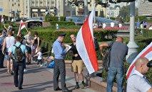 Акция Сьвята Незалежнасьцi в центре Минска