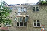Обрушившийся балкон в Гродно