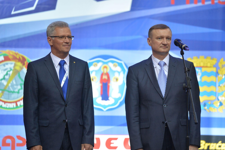 Иштван Вашкути и Сергей Шаблыко на церемонии открытия.