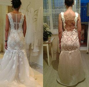 Свадебное платье из салона и пошитое по его образцу  на заказ