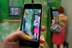 Приложение Pokemon Go на смартфоне