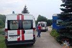 Машины скорой помощи на Цнянском водохранилище