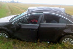 Машина после ДТП в Пинском районе
